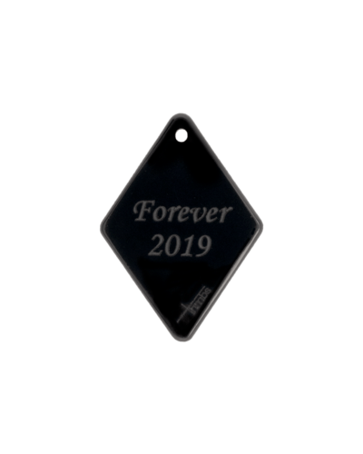Black Fingerprint Diamond Pendant