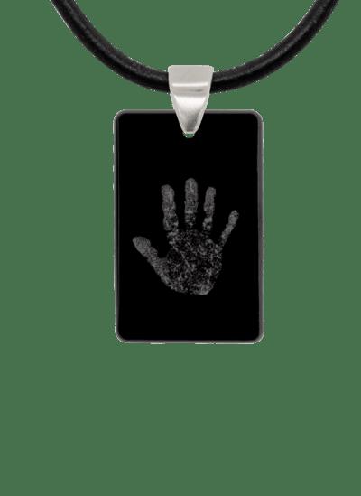 Black Handprint Keepsake Pendant