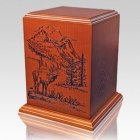 Elk Forest Wood Cremation Urn