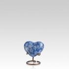 Azure Essence Heart Cloisonne Urn