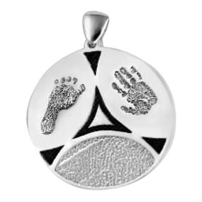 Family 3 Print Sterling Silver Keepsake