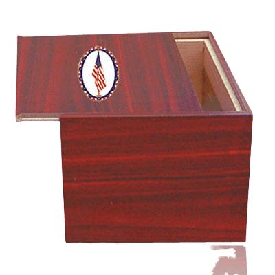 Danish US Flag Cremation Urn