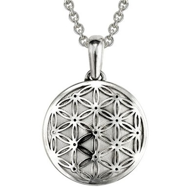 Flower Of Life Sterling Cremation Pendant