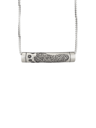 Footprint Rod Keepsake Pendant