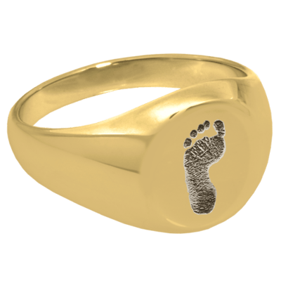 Footprint 14k Gold Cremation Ring
