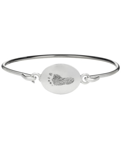 Footprint Sterling Bangle Bracelet