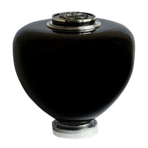 Black Crystal Glass Cremation Urn