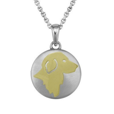 Golden Retriever Gold Cremation Pendant