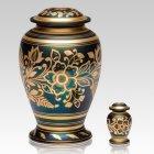 Golden Flower Cremation Urns