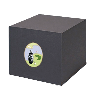 Swedish Golf Scene Cremation Urn