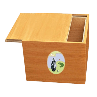 Norwegian Golf Scene Cremation Urn