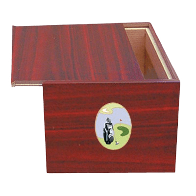 Danish Golf Scene Cremation Urn