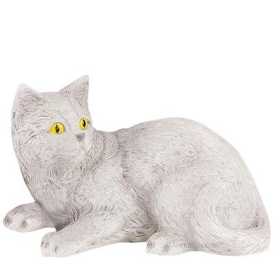 Gray Kitty Cremation Urn