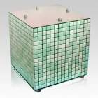 Green Mosaic Ceramic Urn