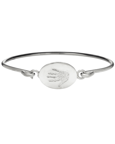 Handprint Sterling Bangle Bracelet