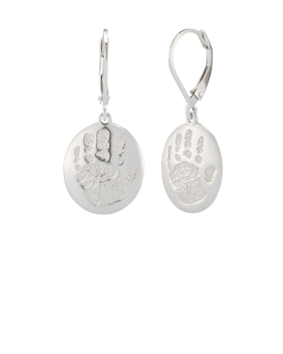 Earrings Handprint Sterling Keepsake