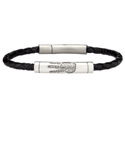 Handprint Rod Leather Bracelet