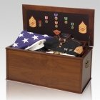 Military Veteran Display Chest