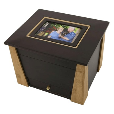 Hinged Photo Cremation Urn