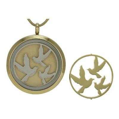 Honor Birds Cremation Pendant