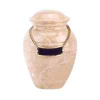 Cream Marble Child Cremation Urn