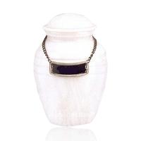 White Marble Child Cremation Urn