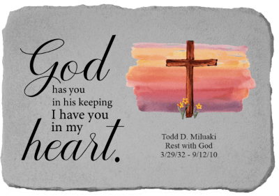 God Has You In His Heart with Cross Stone
