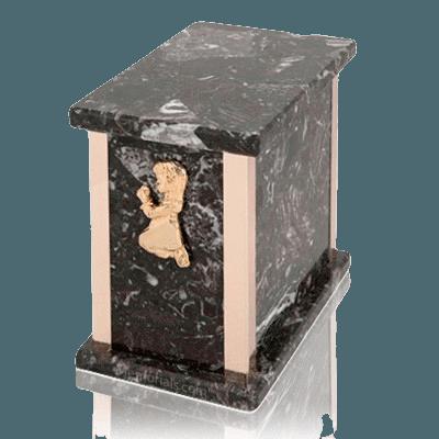 Design Rosso Levanto Praying Girl Marble Urn