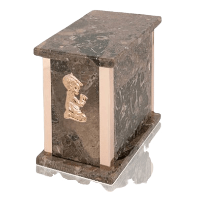 Design Rosatica Praying Boy Marble Urn