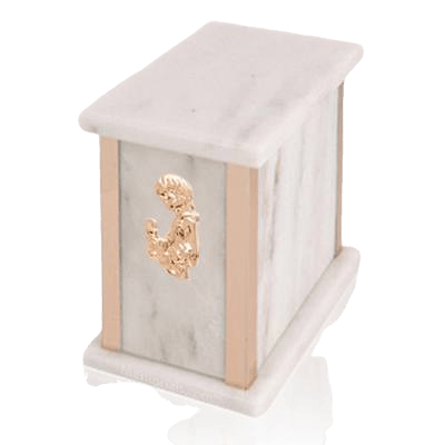 Design Bianco Child with Toy Marble Urn