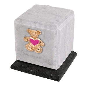 Graceful Danby Teddy Pink Heart Cremation Urn