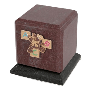 Graceful Rosso ABC Teddy Cremation Urn