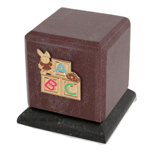 Graceful Rosso ABC Bunny Cremation Urn