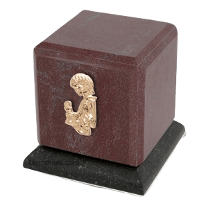 Graceful Rosso Child with Toy Cremation Urn