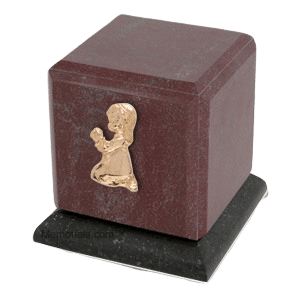 Graceful Rosso Praying Girl Cremation Urn