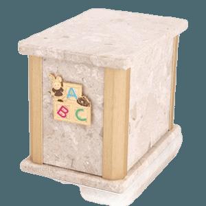Solitude Perlato ABC Bunny Cremation Urn