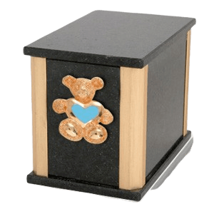 Solitude Cambrian Teddy Blue Heart Cremation Urn