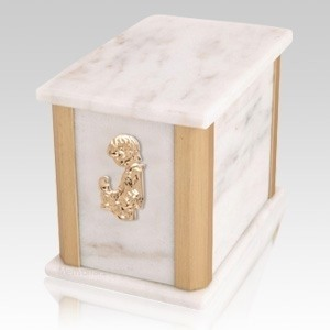 Solitude Bianco Child with Toy Cremation Urn