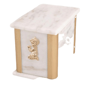 Solitude Bianco Praying Boy Cremation Urn