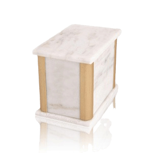 Solitude White Danby Marble Medium Urn