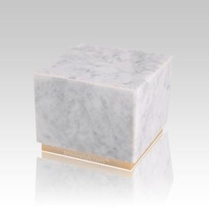 Dignity Bianco Marble Medium Urn