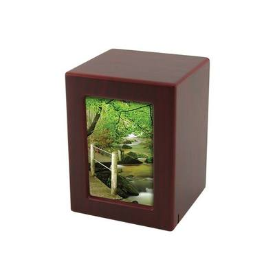 Cherry Infinity Small Photo Wood Urn
