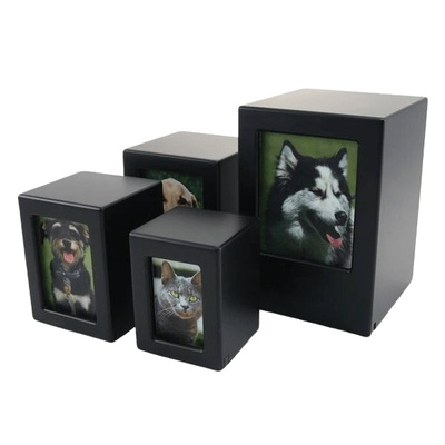 Black Infinity Photo Wood Urns