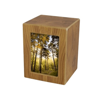 Natural Infinity Medium Photo Wood Urn