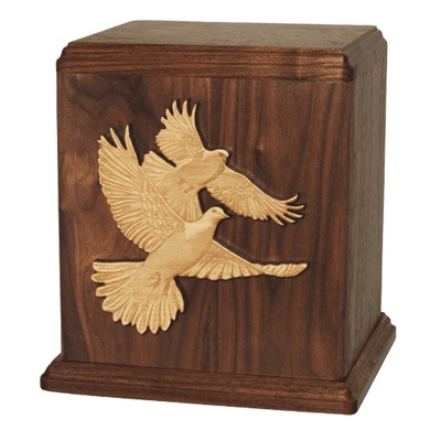 Doves Wood Cremation Urns