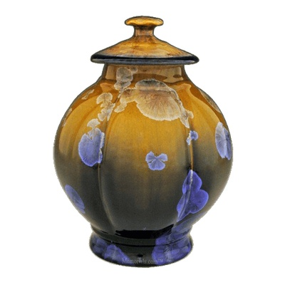 Gold Crisp Art Cremation Urn