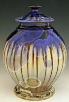 Stripes Art Cremation Urn