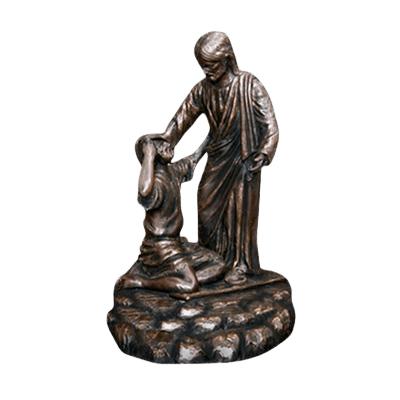 Jesus Healing Bronze Cremation Urn