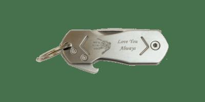 Multi-Tool Handprint Keychain