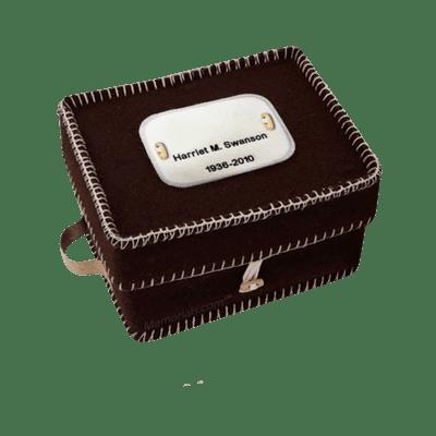 Natural Brown Woolen Urn